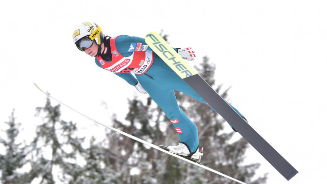 German ski jumpers triumph at World Championship premiere