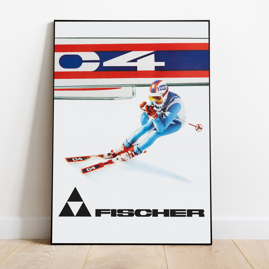 VINTAGE POSTER ALPINE ACTION