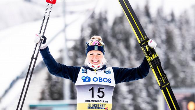 Frida Karlsson bezwingt Johaug am Holmenkollen