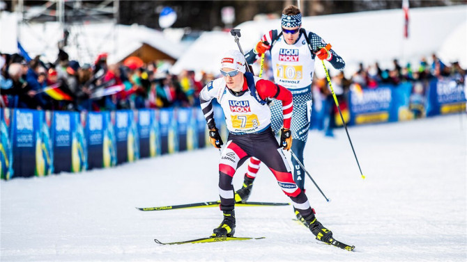 France dominates men's biathlon relay